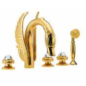 Смеситель Effepi CRYSTAL 23007-DS на борт ванны золото купить в Москве по цене от 129480р. в интернет-магазине mebel-v-vannu.ru
