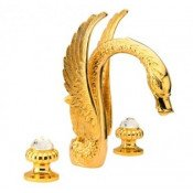 Смеситель Effepi CRYSTAL 23037-DS для раковины золото купить в Москве по цене от 116740р. в интернет-магазине mebel-v-vannu.ru