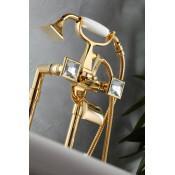Смеситель Effepi CHIC DIAMANTE 44004 для ванны с душем золото купить в Москве по цене от 81690р. в интернет-магазине mebel-v-vannu.ru