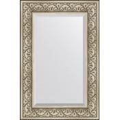 Зеркало Evoform Exclusive BY 3424 60x90 см барокко серебро купить в Москве по цене от 8395р. в интернет-магазине mebel-v-vannu.ru