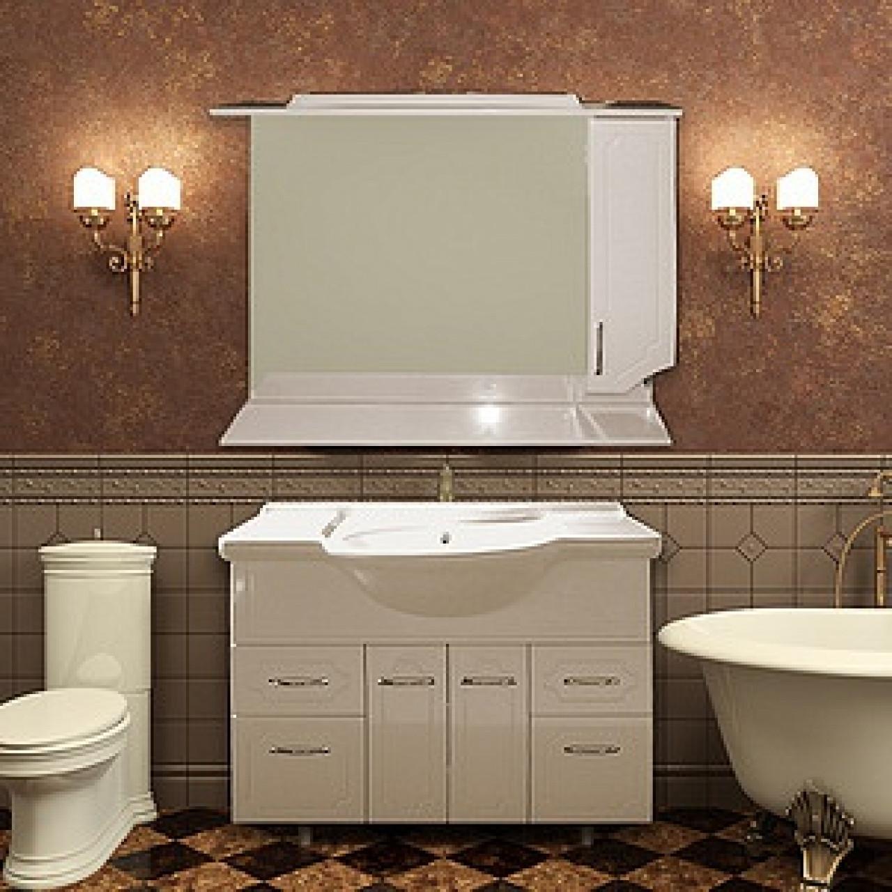 Комплект мебели Ferrara Ассоль 105 купить в Москве по цене от 22370р. в интернет-магазине mebel-v-vannu.ru