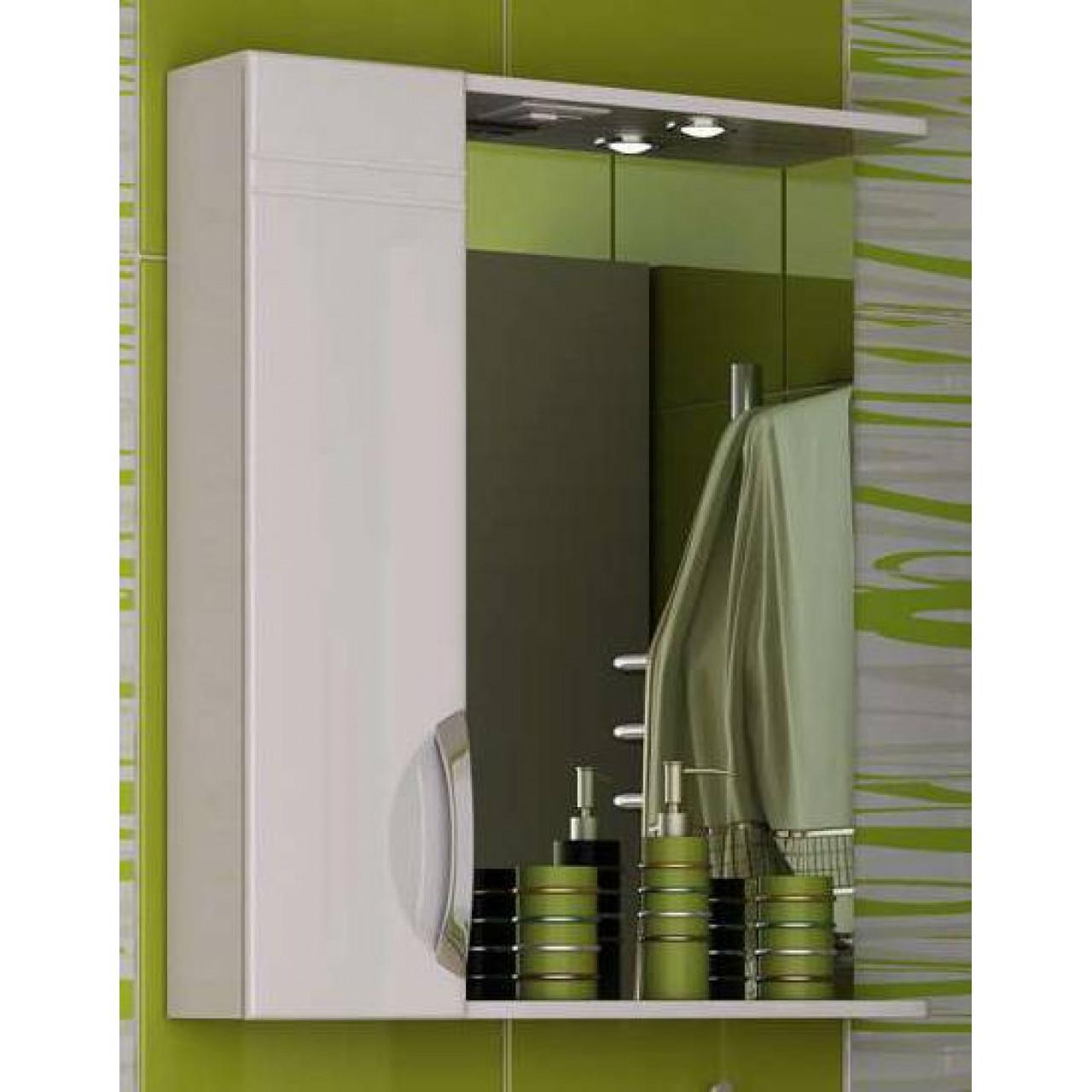 Шкаф-зеркало Francesca Доминго 60 С купить в Москве по цене от 5590р. в интернет-магазине mebel-v-vannu.ru