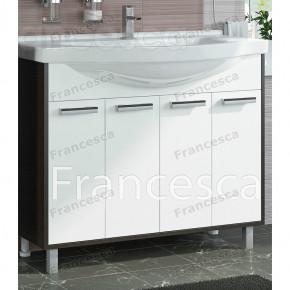 Тумба с раковиной Francesca Eco 100 белый/венге