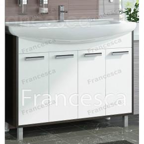 Тумба с раковиной Francesca Eco 105 белый/венге