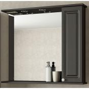 Шкаф-зеркало Francesca Империя 80 венге купить в Москве по цене от 4712р. в интернет-магазине mebel-v-vannu.ru