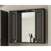 Шкаф-зеркало Francesca Империя 80-2 венге купить в Москве по цене от 5320р. в интернет-магазине mebel-v-vannu.ru