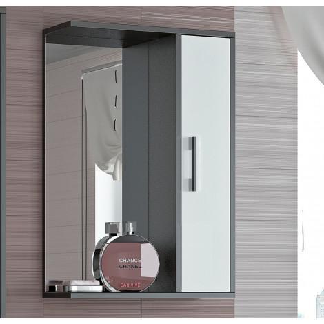 Шкаф-зеркало Francesca Eco 50 белый-венге купить в Москве по цене от 3190р. в интернет-магазине mebel-v-vannu.ru