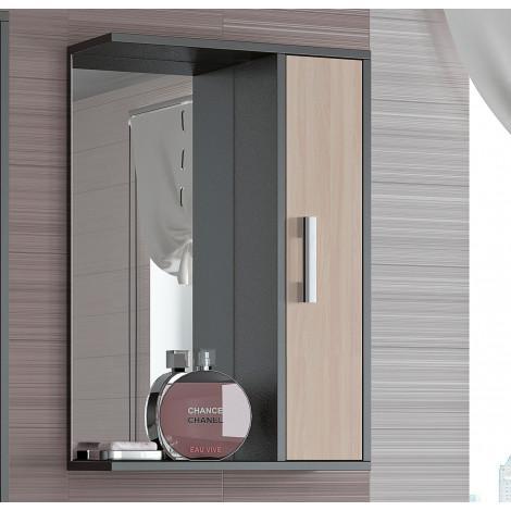 Шкаф-зеркало Francesca Eco 65 дуб-венге купить в Москве по цене от 2690р. в интернет-магазине mebel-v-vannu.ru
