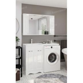 Тумба с раковиной под стиральную машину Francesca Империя 120 белый
