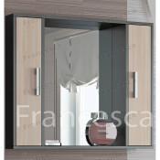 Шкаф-зеркало Francesca Eco 90 дуб-венге купить в Москве по цене от 2960р. в интернет-магазине mebel-v-vannu.ru