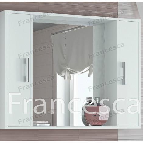 Шкаф-зеркало Francesca Eco 100 белый купить в Москве по цене от 4430р. в интернет-магазине mebel-v-vannu.ru