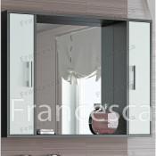 Шкаф-зеркало Francesca Eco 100 белый-венге купить в Москве по цене от 3840р. в интернет-магазине mebel-v-vannu.ru
