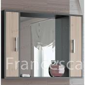 Шкаф-зеркало Francesca Eco 100 дуб-венге купить в Москве по цене от 3170р. в интернет-магазине mebel-v-vannu.ru
