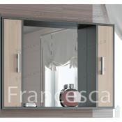 Шкаф-зеркало Francesca Eco 105 дуб-венге купить в Москве по цене от 3960р. в интернет-магазине mebel-v-vannu.ru