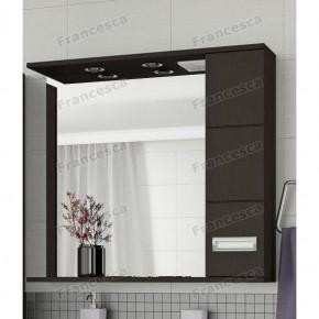 Шкаф-зеркало Francesca Кубо 80 2С венге