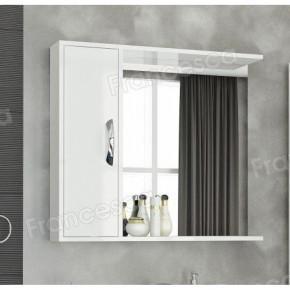 Шкаф-зеркало Francesca Eco Max 80 белый