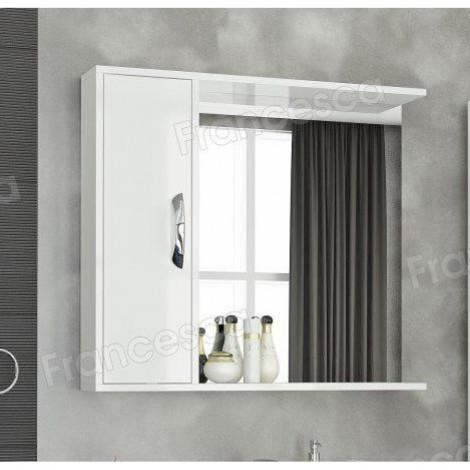 Шкаф-зеркало Francesca Eco Max 80 белый купить в Москве по цене от 3140р. в интернет-магазине mebel-v-vannu.ru