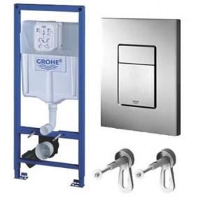 Система инсталляции для унитазов Grohe Rapid SL 38772001 3 в 1 с кнопкой смыва