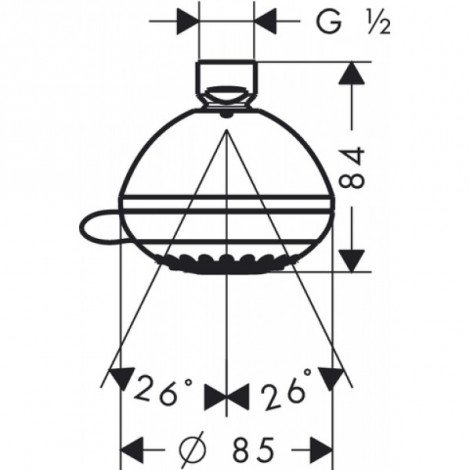 Верхний душ Hansgrohe Crometta 85 Vario 28424000 купить в Москве по цене от 2281р. в интернет-магазине mebel-v-vannu.ru
