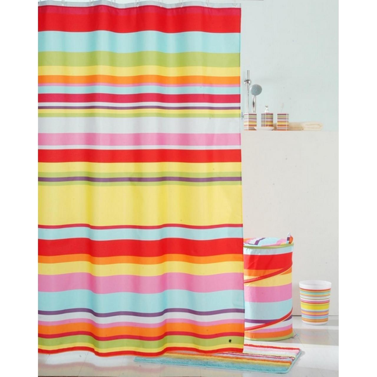 Штора для ванной комнаты Iddis Summer Stripes купить в Москве по цене от 1070р. в интернет-магазине mebel-v-vannu.ru