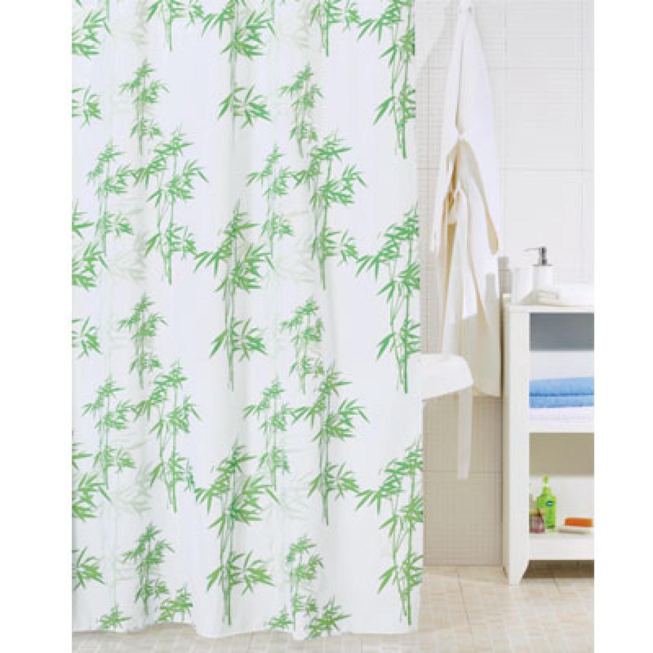 Штора для ванной комнаты Iddis Bamboo Leaf купить в Москве по цене от 880р. в интернет-магазине mebel-v-vannu.ru