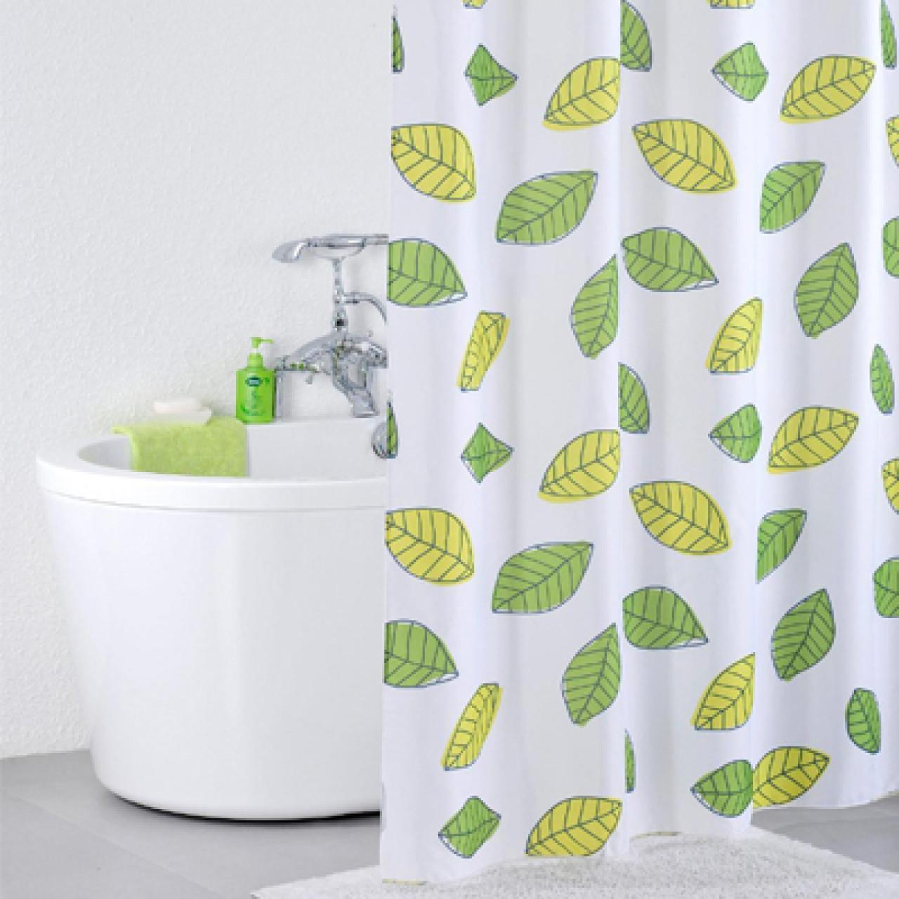 Штора для ванной комнаты Iddis Bean Leaf купить в Москве по цене от 1060р. в интернет-магазине mebel-v-vannu.ru