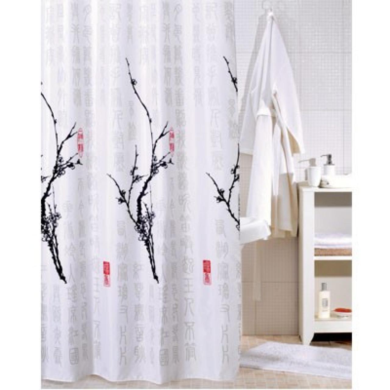 Штора для ванной комнаты Iddis Cherry Tree купить в Москве по цене от 880р. в интернет-магазине mebel-v-vannu.ru