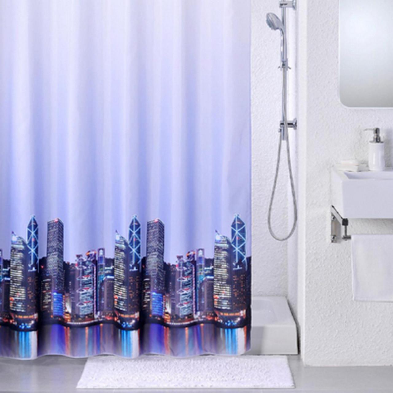 Штора для ванной комнаты Iddis City купить в Москве по цене от 1200р. в интернет-магазине mebel-v-vannu.ru