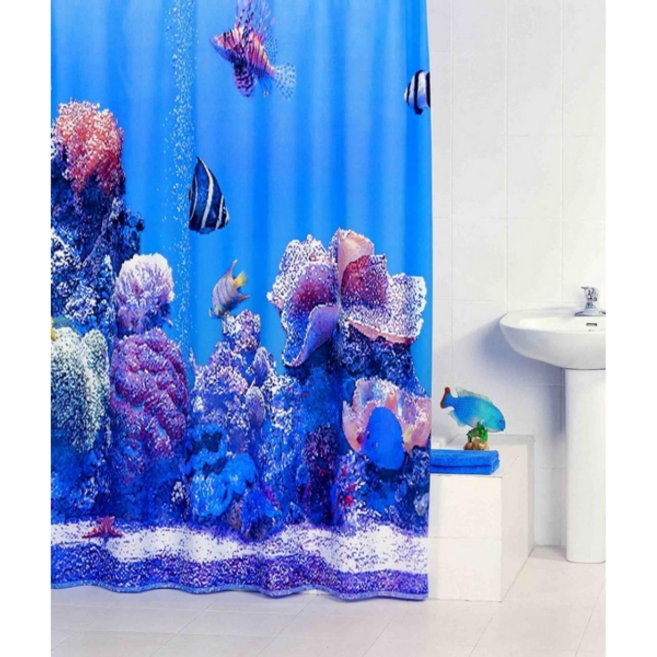 Штора для ванной комнаты Iddis Pacific Ocean купить в Москве по цене от 990р. в интернет-магазине mebel-v-vannu.ru