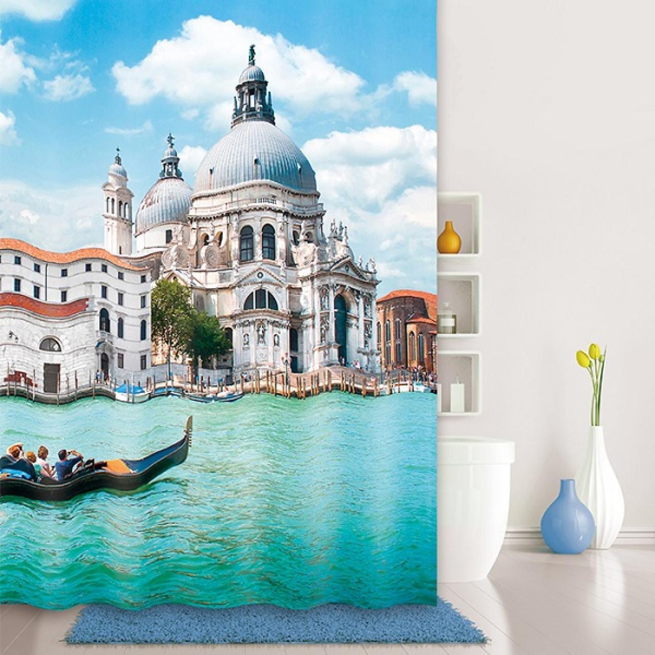 Штора для ванной комнаты Iddis Venice moments купить в Москве по цене от 1190р. в интернет-магазине mebel-v-vannu.ru