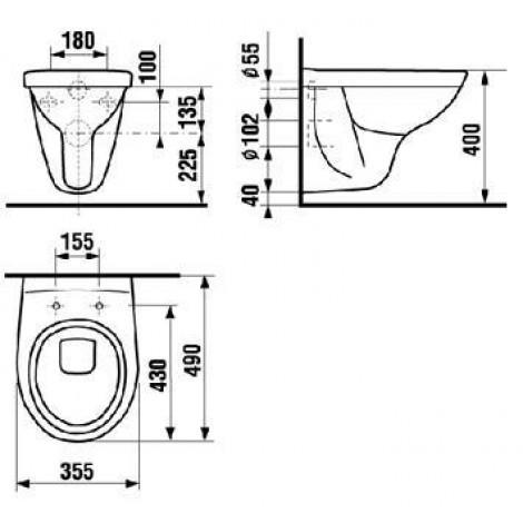 Унитаз подвесной Jika Lyra 2137.2 укороченный купить в Москве по цене от 5752р. в интернет-магазине mebel-v-vannu.ru