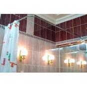 Карниз для ванны Г-образный 170x75см универсальный купить в Москве по цене от 3350р. в интернет-магазине mebel-v-vannu.ru