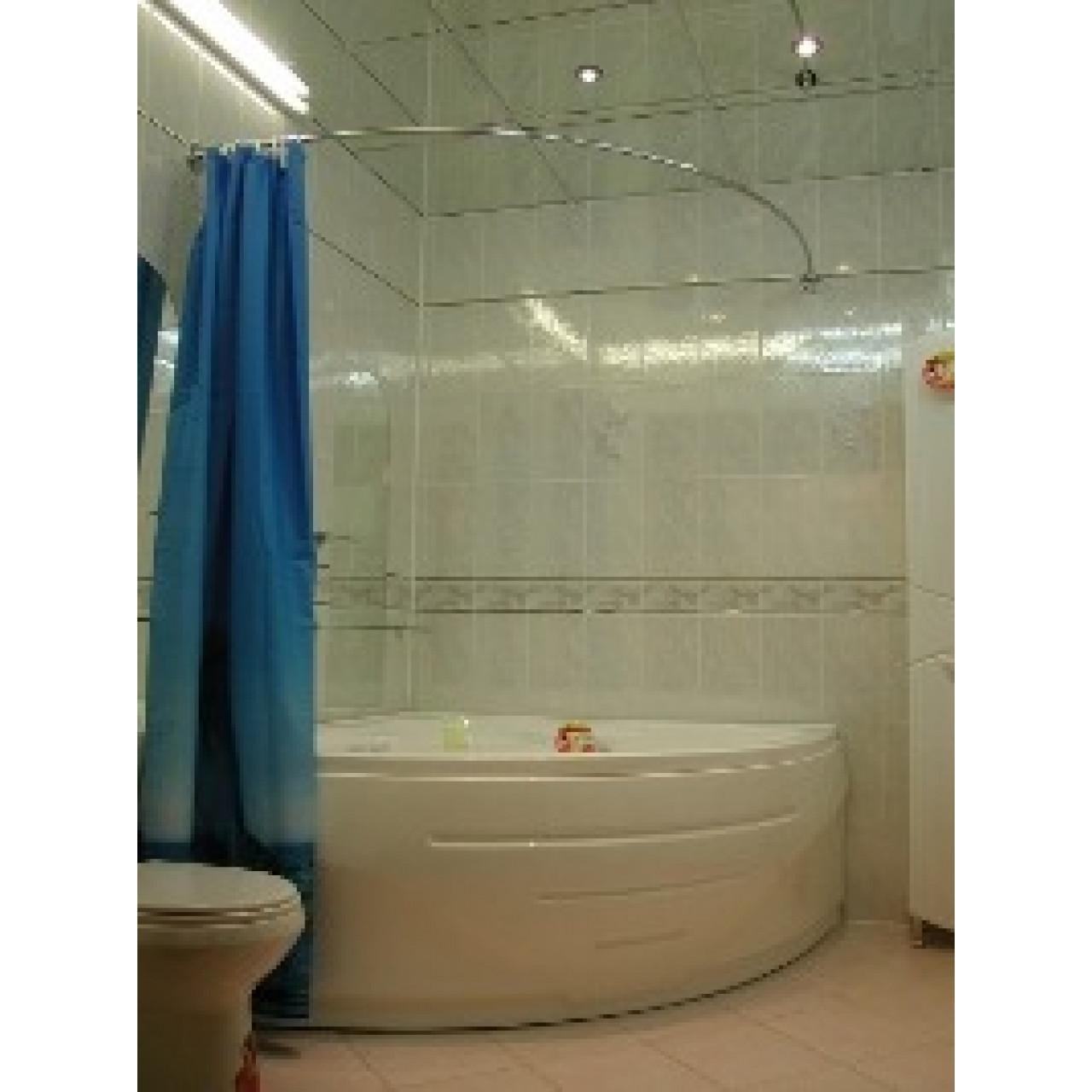 Карниз для ванны Дугой 120x120см купить в Москве по цене от 3250р. в интернет-магазине mebel-v-vannu.ru