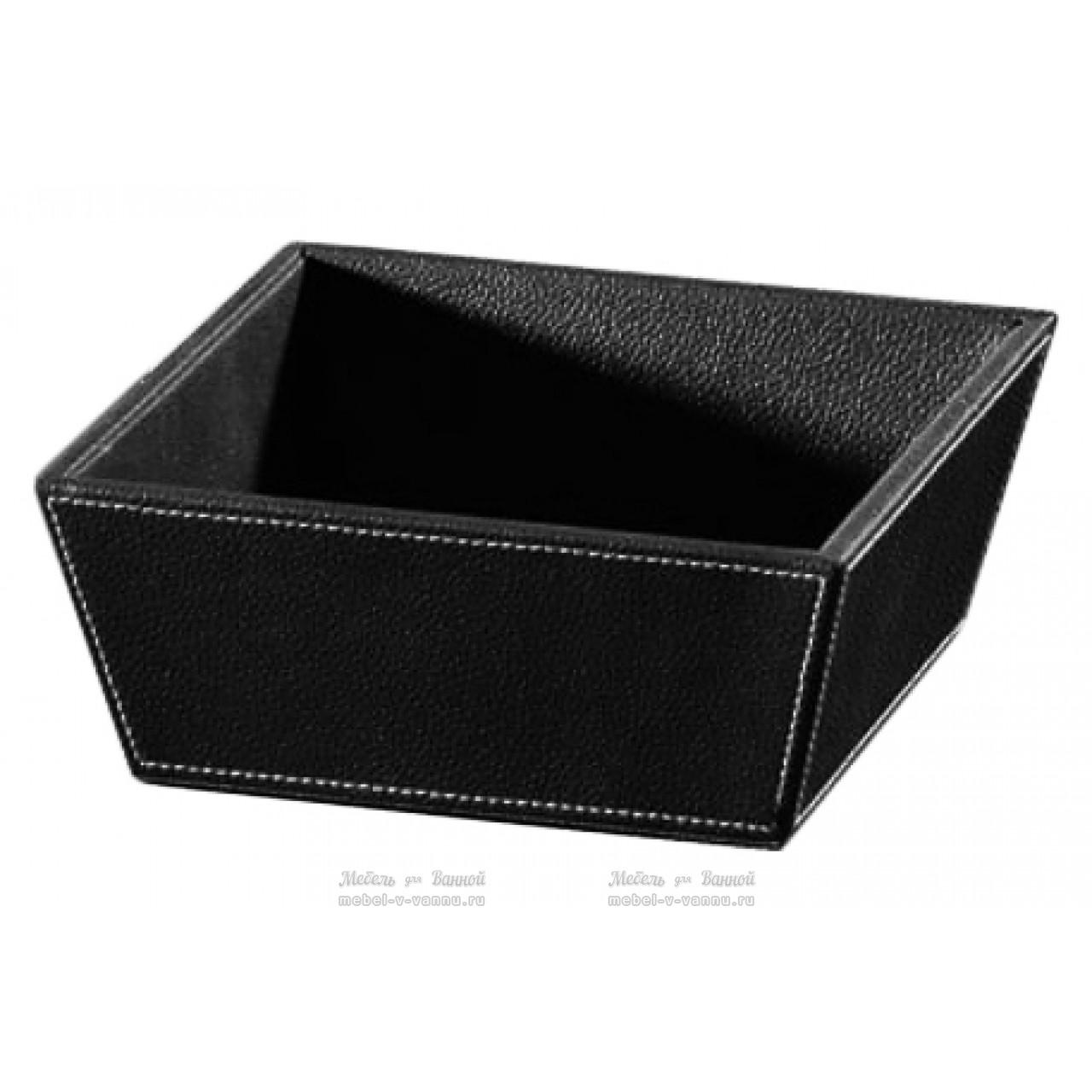 Контейнер Koh-i-Noor Ecopelle 2605BK черный купить в Москве по цене от 2530р. в интернет-магазине mebel-v-vannu.ru