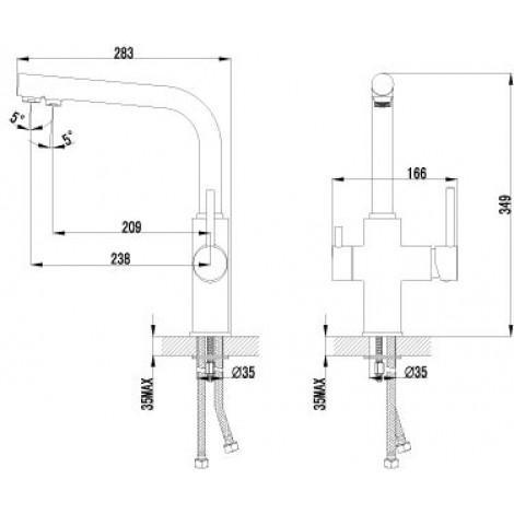 Смеситель LeMark COMFORT LM3060C для кухни с подключением к фильтру с питьевой водой купить в Москве по цене от 10219р. в интернет-магазине mebel-v-vannu.ru