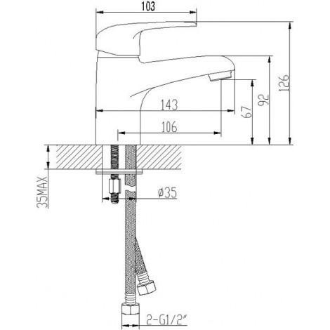Смеситель LeMark PRAMEN LM3306C для раковины монолитный купить в Москве по цене от 3125р. в интернет-магазине mebel-v-vannu.ru