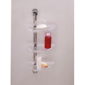 Полка для ванной Нова M-N16-16 прозрачно-натуральный