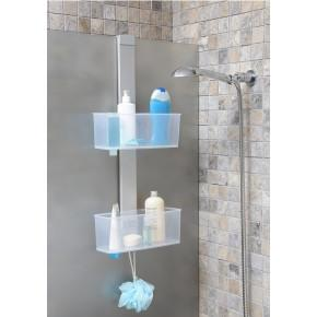 Полка для ванной Нова M-N34-16-PP хром/прозрачно-матовый