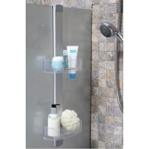 Полка для ванной Нова M-N32-16 прозрачно-натуральный