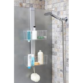 Полка для ванной Нова M-N34-16 хром/прозрачно-натуральный