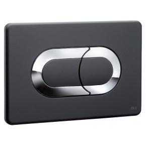 Кнопка смыва OLI Salina 640097 черный/хром