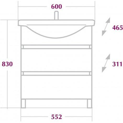 Комплект мебели Onika Элита 60 купить в Москве по цене от 17794р. в интернет-магазине mebel-v-vannu.ru