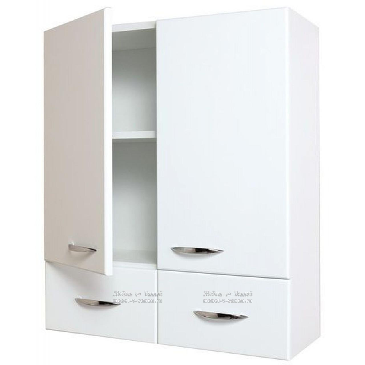 Шкаф навесной Onika Кредо 60 двухдверный 2 ящика купить в Москве по цене от 8500р. в интернет-магазине mebel-v-vannu.ru