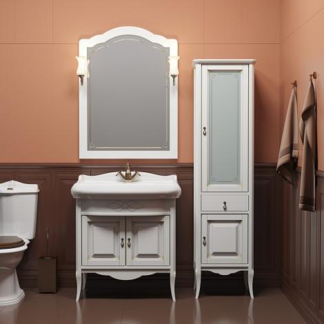 Комплект мебели Opadiris Лоренцо 80 белый купить в Москве по цене от 50861р. в интернет-магазине mebel-v-vannu.ru