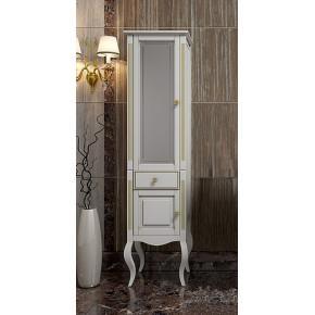 Пенал для ванной Opadiris Лаура 44 L белый золотая патина