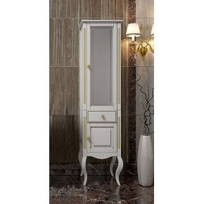 Пенал для ванной Opadiris Лаура 44 R белый золотая патина