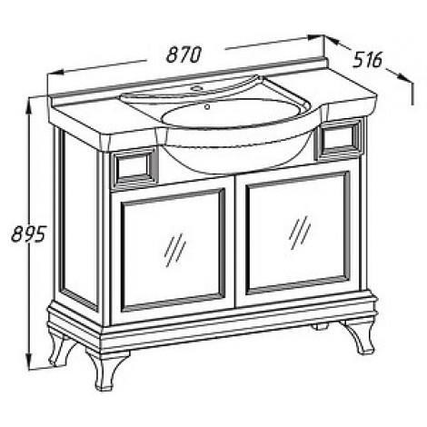 Комплект мебели Opadiris Борджи 85 светлый орех купить в Москве по цене от 55230р. в интернет-магазине mebel-v-vannu.ru