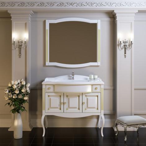 Комплект мебели Opadiris Лаура 120 белый с патиной купить в Москве по цене от 87220р. в интернет-магазине mebel-v-vannu.ru