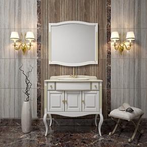 Комплект мебели Opadiris Лаура 100 белая с патиной