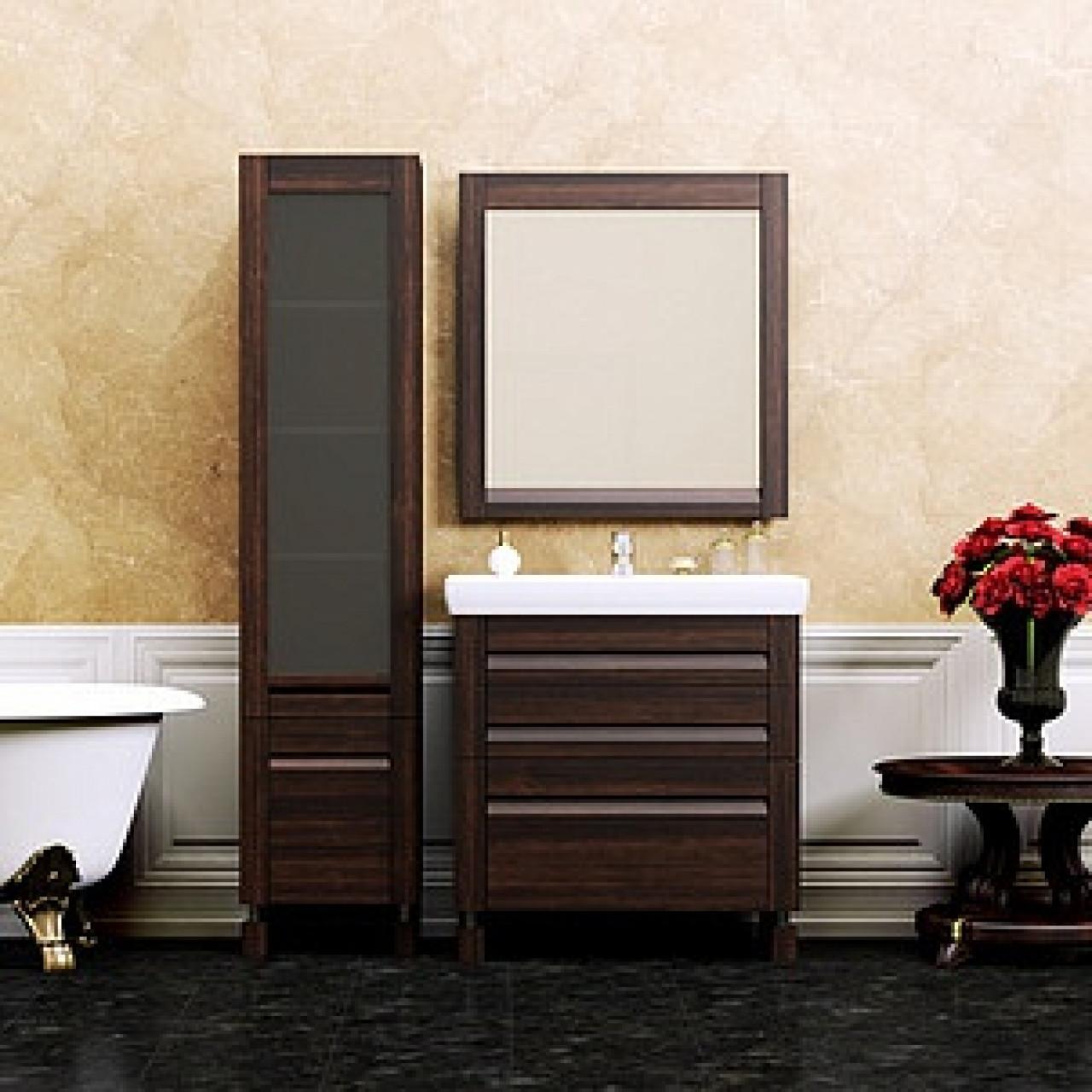 Комплект мебели Opadiris Лаварро 80 венге купить в Москве по цене от 41398р. в интернет-магазине mebel-v-vannu.ru